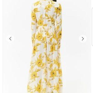 a991fa28ce0 Forever 21 Dresses - Sheer Floral Chiffon Maxi Shirt Dress